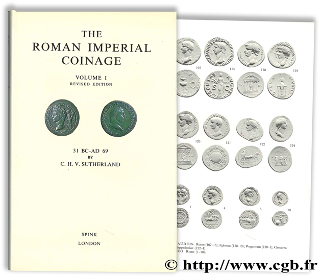 The Roman Imperial Coinage - The standard catalogue of Roman imperial coins - Volume I,