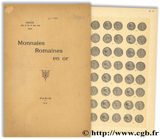 Monnaies romaines en or - Collection J. E. - Vente à l hôtel Drouot 1909 ROLLIN & FEUARDENT
