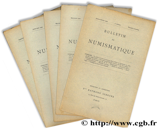 Bulletin de numismatique - 7e volume SERRURE R.
