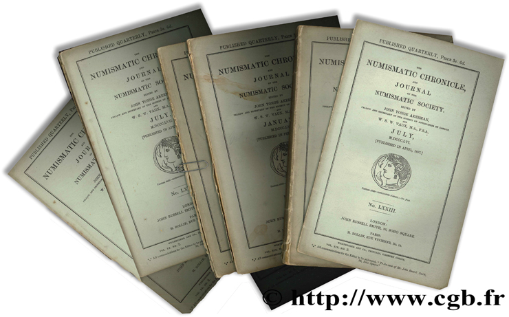 The Numismatic Chronicle, and Journal of the Numismatic Society - N° LXXIII à LXXIX Collectif