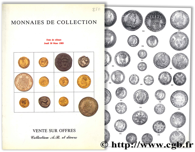 Collection A.B. et divers : Monnaies de collection, Vente sur offres  POINDESSAULT B., VEDRINES J.