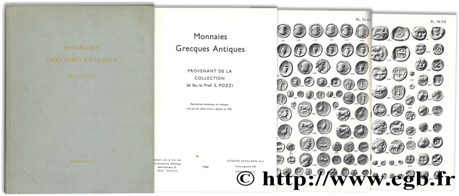 Monnaies Grecques Antiques provenant de la collection de feu le Prof. S. POZZI