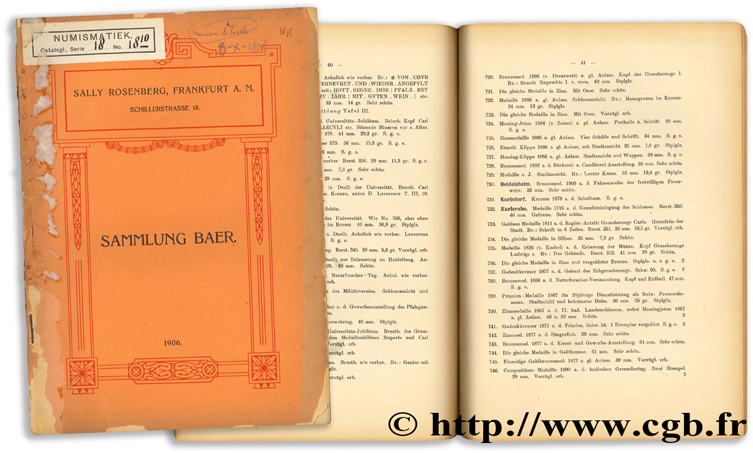 Auctions-Catalog - October 1906 ROSENBERG S.