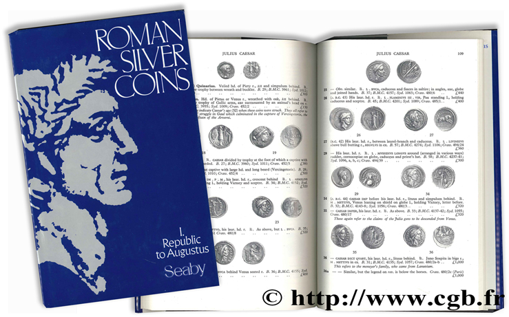 Roman silver coins - I - Rep. to Augustus SEABY H.-A.