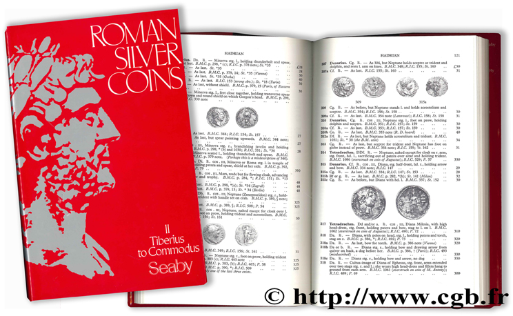 Roman Silver Coins - II - Tiberius to Commodus SEABY H.-A.