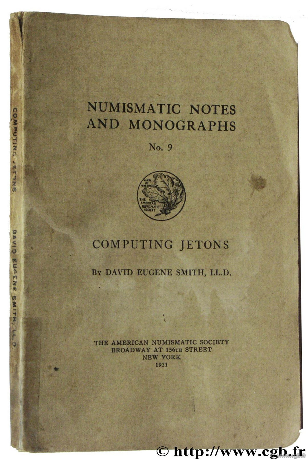 Computing Jetons, The American Numismatic Society SMITH D.-E.