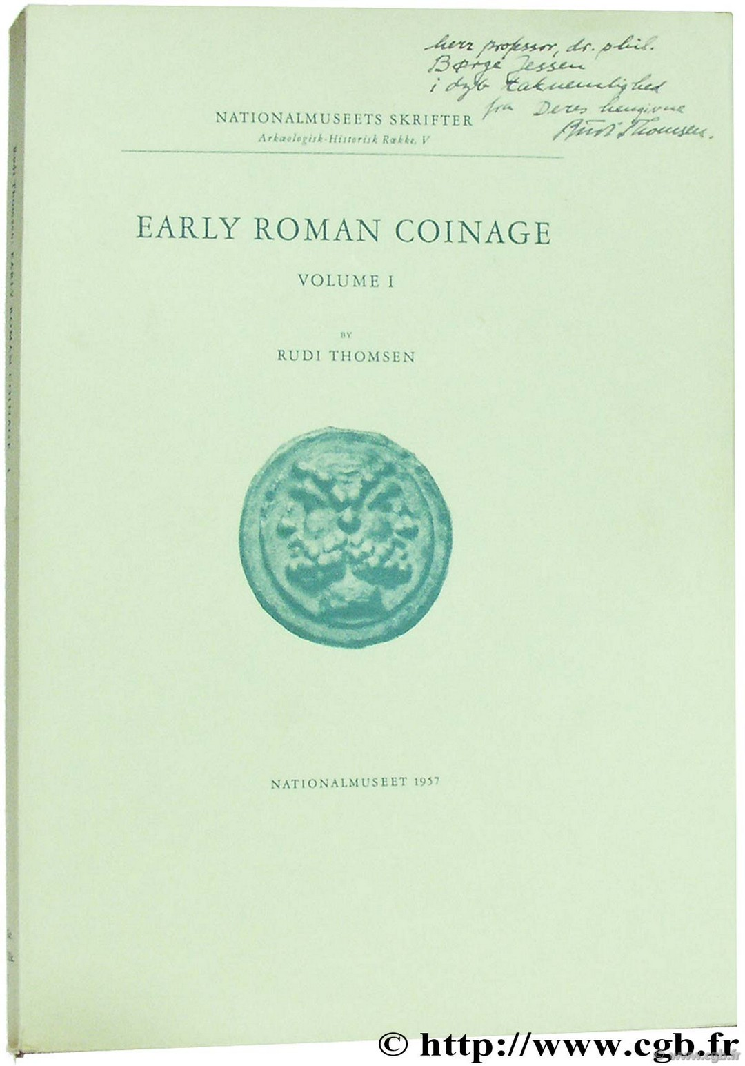 Early Roman Coinage THOMSEN R.