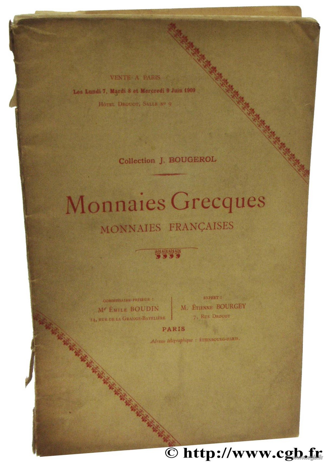Monnaies grecques - monnaies françaises - collection Bougerol BOURGEY É.