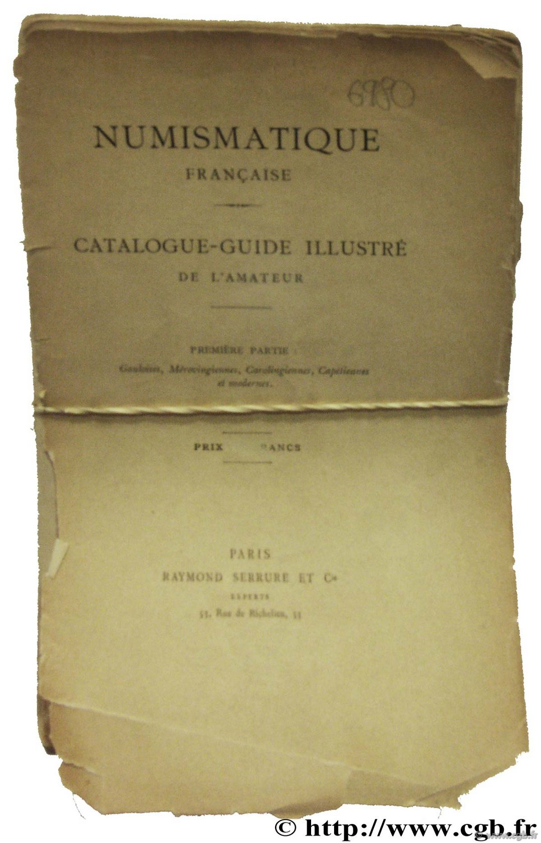 Numismatique Française Catalogue-Guide illustré de l amateur  SERRURE R.