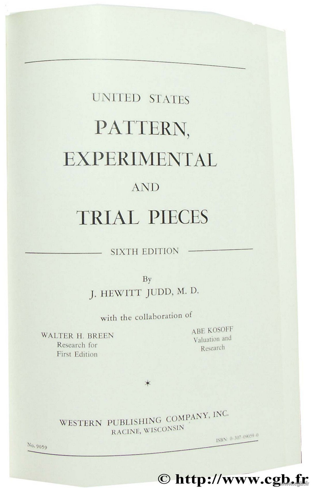 United States Pattern, Experimental and Trial Pieces sixth edition