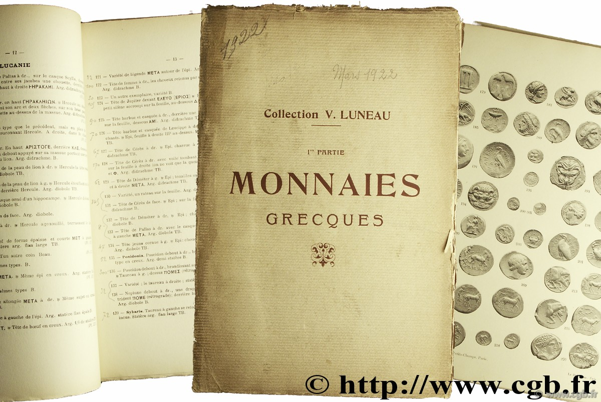 Collection V. Luneau - Monnaies grecques PLATT C.