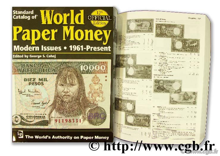 World paper money, Modern Issues (1961-2006) CUHAJ G.-S.