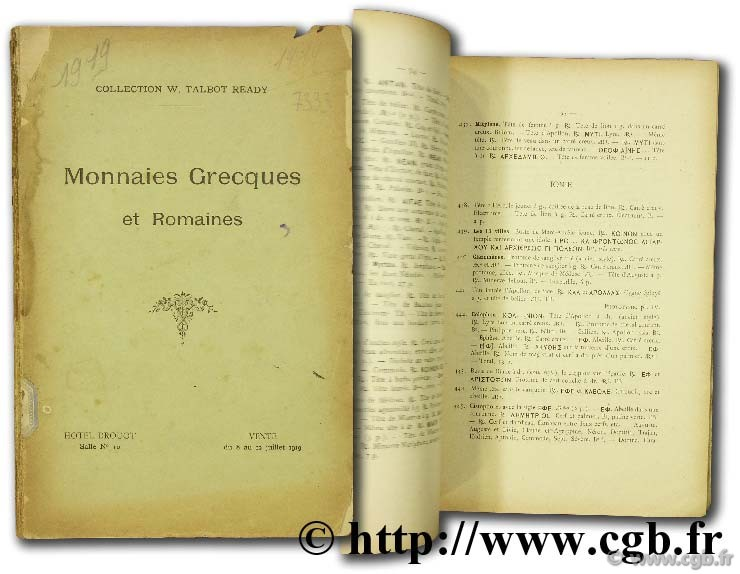 Collection W. Talbot Ready - Monnaies grecques et romaines FEUARDENT F.