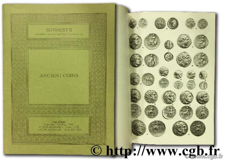 Ancient coins of the greek - roman and byzantine series SOTHEBY PARKE BERNET & Co