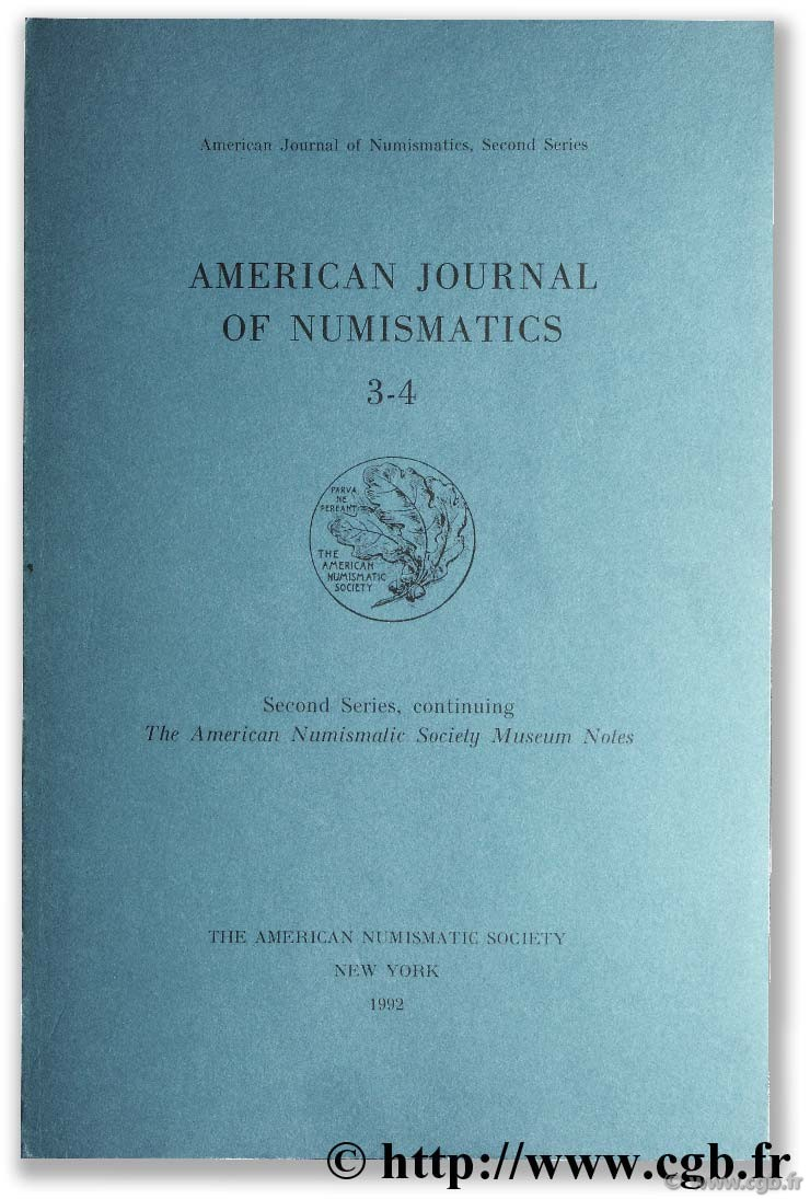 American journal of numismatics 3-4, second séries