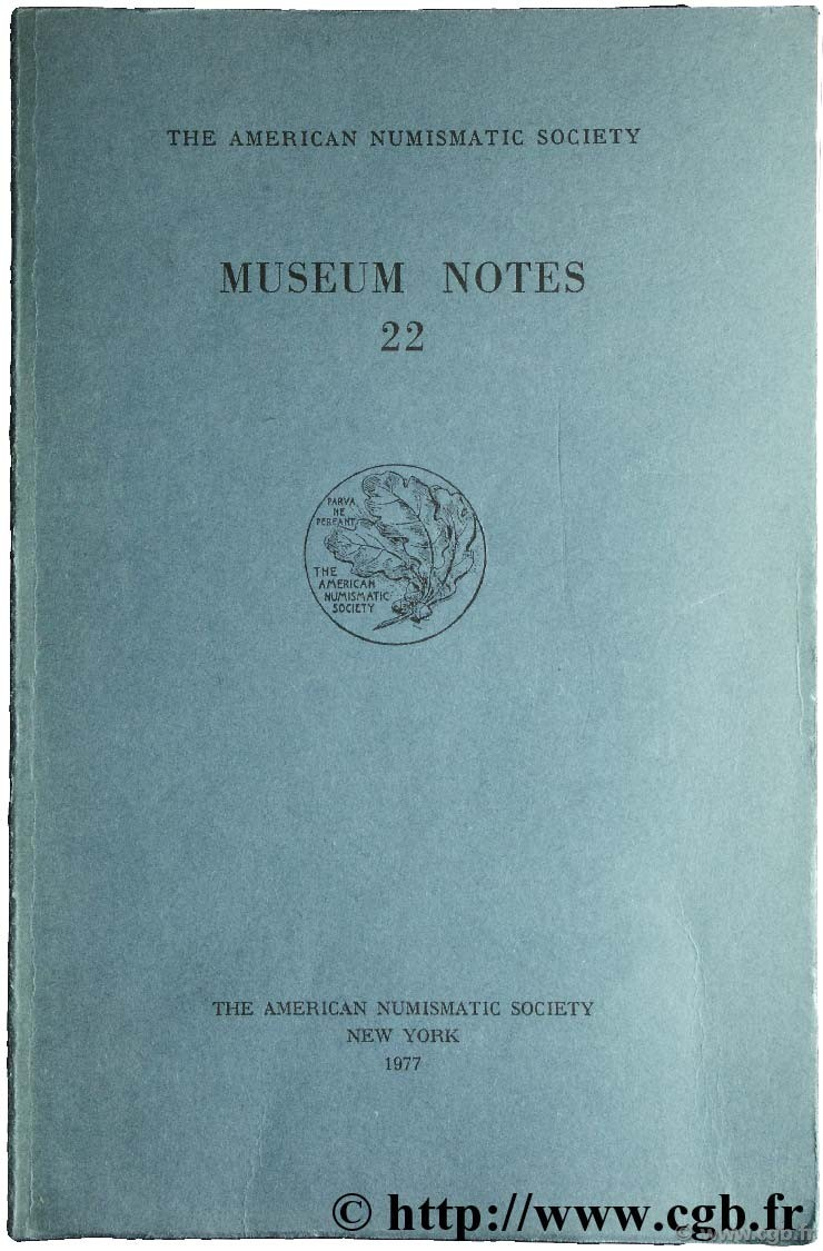Museum notes 22 - the american numismatic society