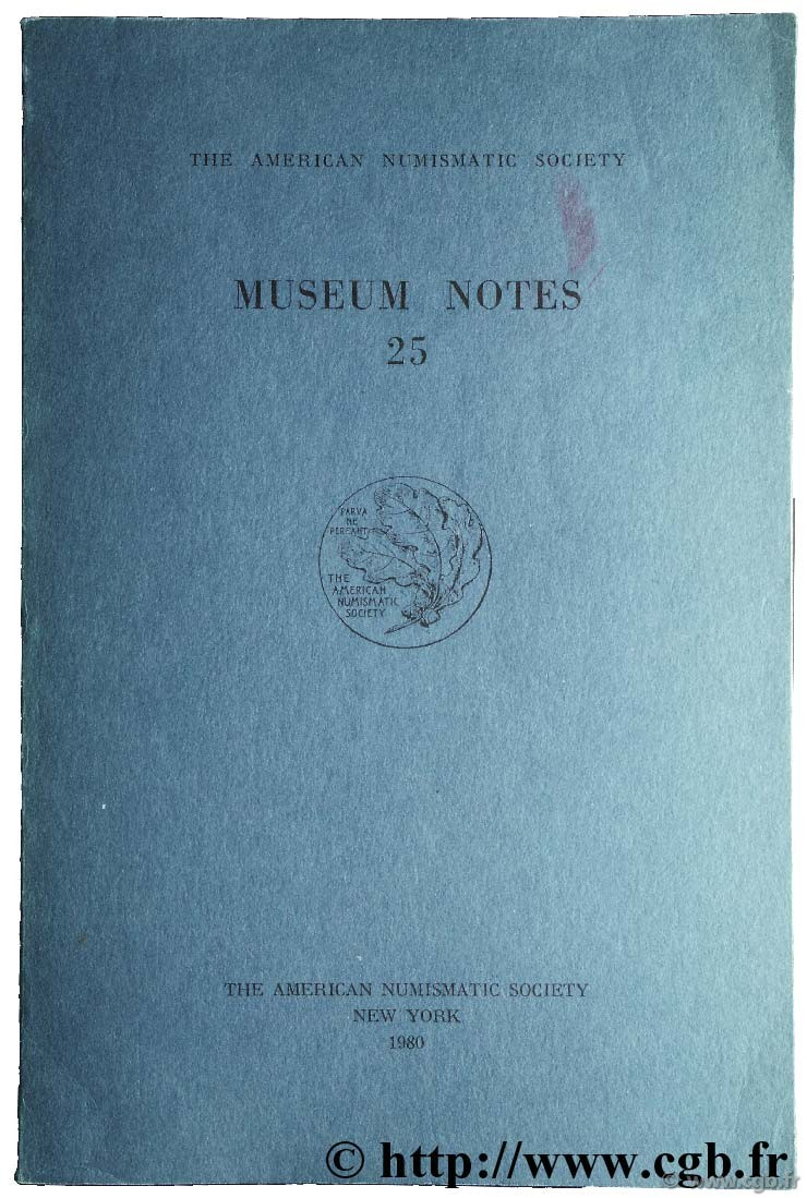 Museum notes 25 - the american numismatic society