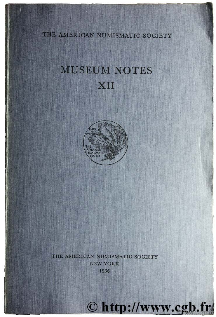 Museum notes XII - the american numismatic society