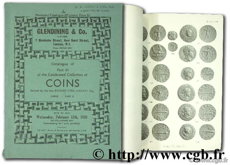 Catalogue of part VI of the celebrated collection of coins formed by the late Richard Cyril Lockett, Esq. Greek part II