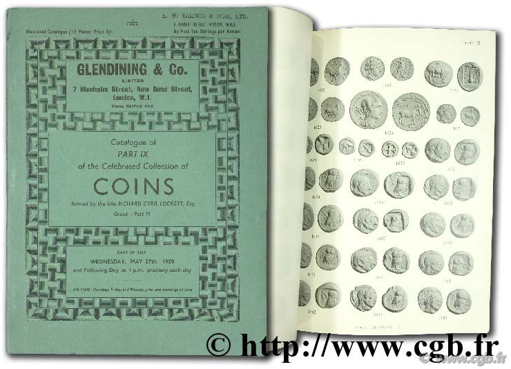 Catalogue of part IX of the celebrated collection of coins formed by the late Richard Cyril Lockett, Esq. Greek part III