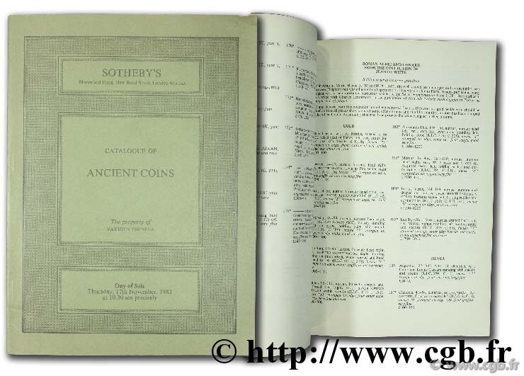 Catalogue of ancient coins. The property of various owners