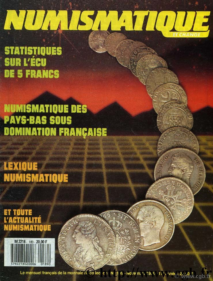 Numismatique & Change n°189 - novembre 1989 NUMISMATIQUE ET CHANGE