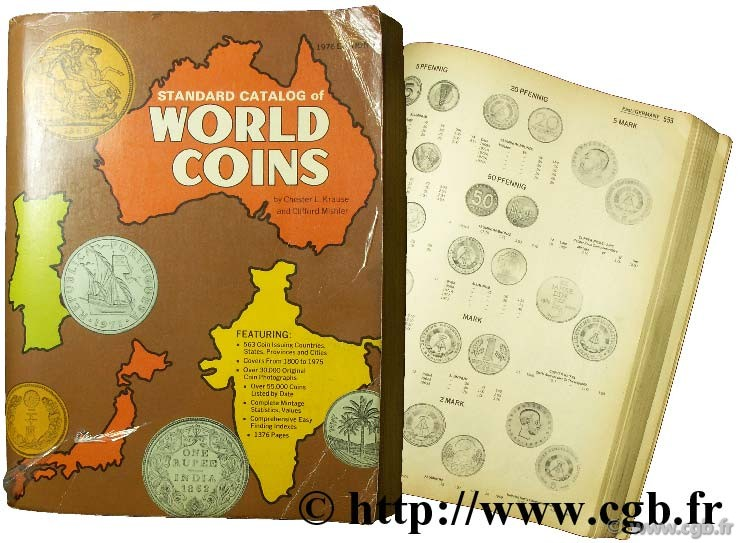 Standard catalog of world coins 1976  KRAUSE Chester L., MISHLER Clifford