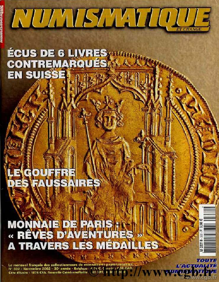 Numismatique & Change n°332 - novembre 2002 NUMISMATIQUE ET CHANGE