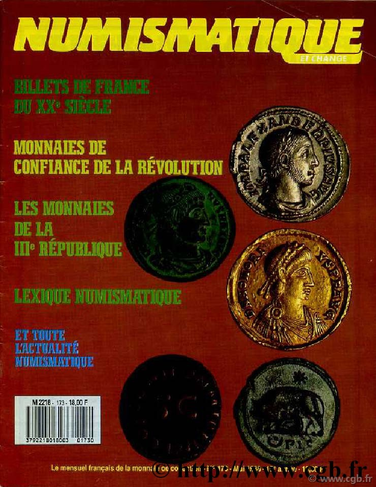 Numismatique & Change n°173 - mai 1988 NUMISMATIQUE ET CHANGE