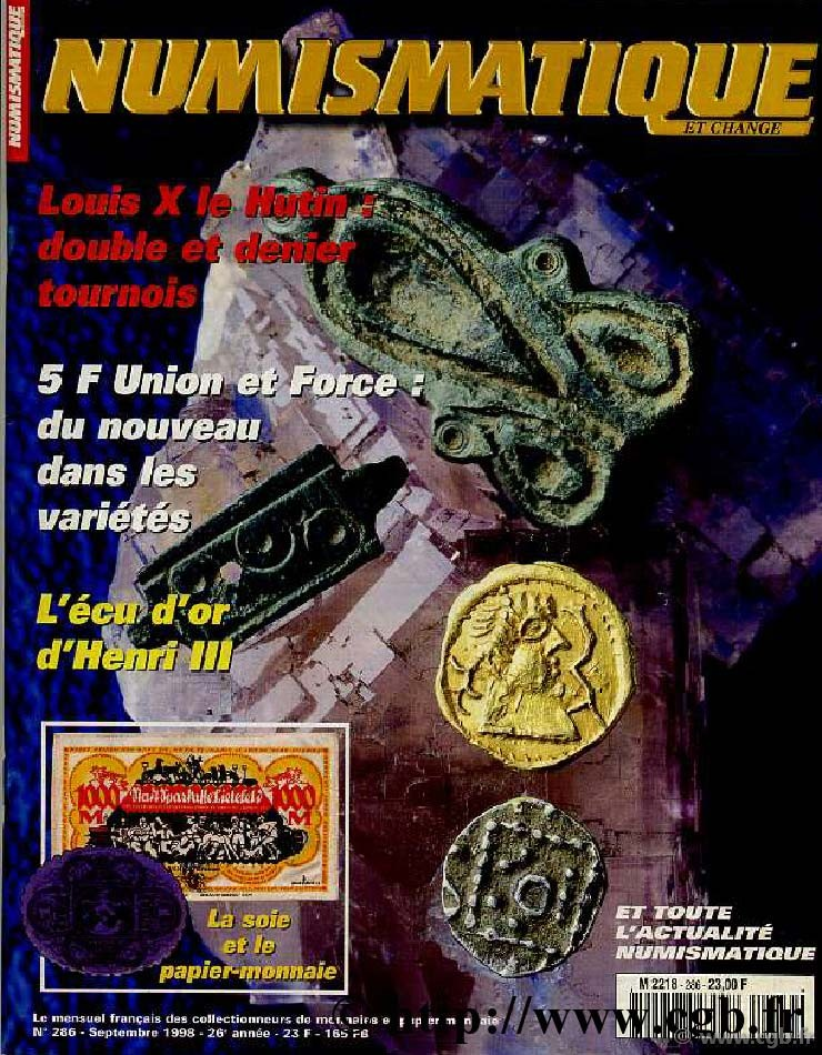 Numismatique & Change n°286 - septembre 1998 NUMISMATIQUE ET CHANGE