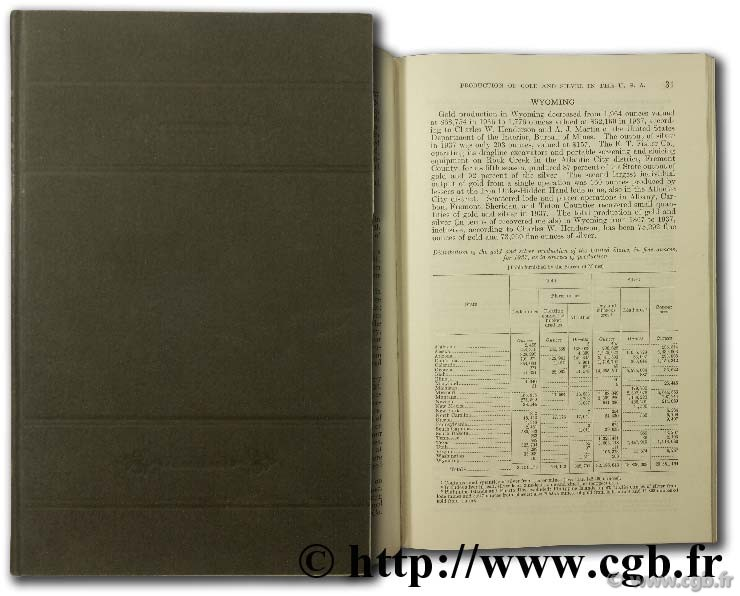 Annual report of the director of the mint for the fiscal year ended June 30 1938 including report on the production of the precious metal during the calendar year 1937