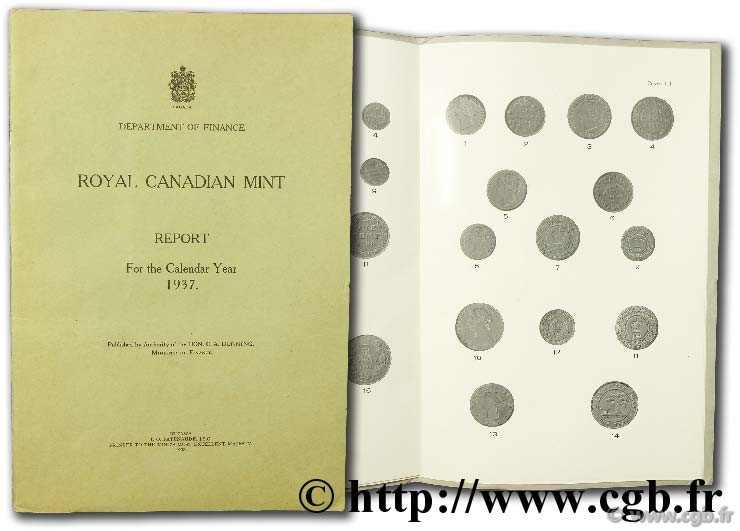 Royal canadian mint - report for the calendar year 1937
