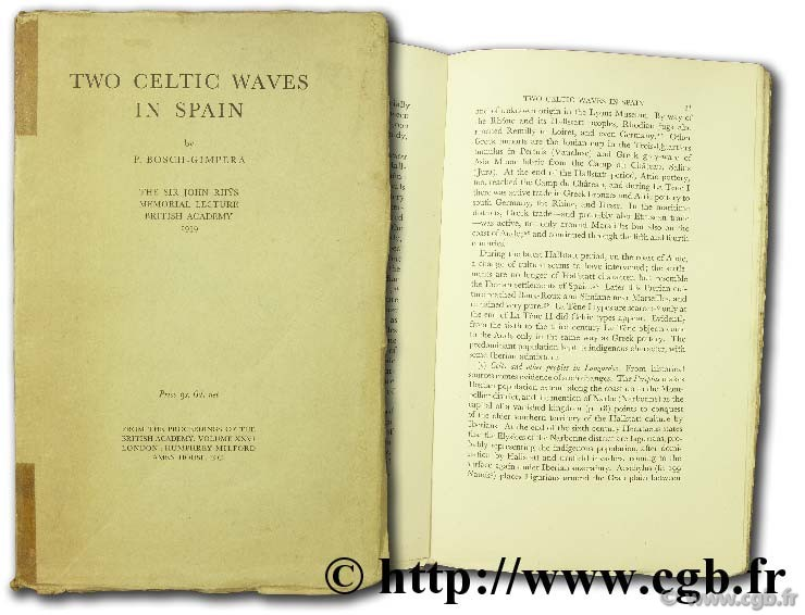 Two celtic waves in spain the sir john rhys memorial lecture BOSCH-GIMPERA P.