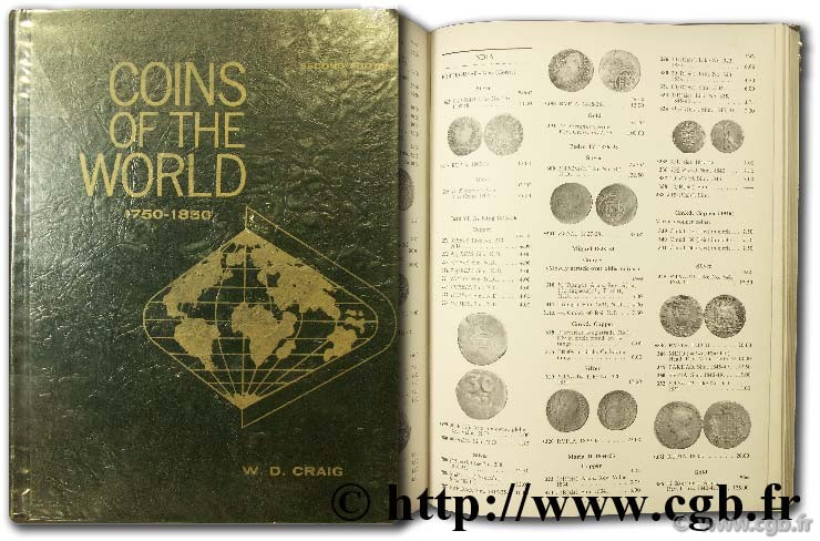 Coins of the world 1750-1850 CRAIG W.-D.