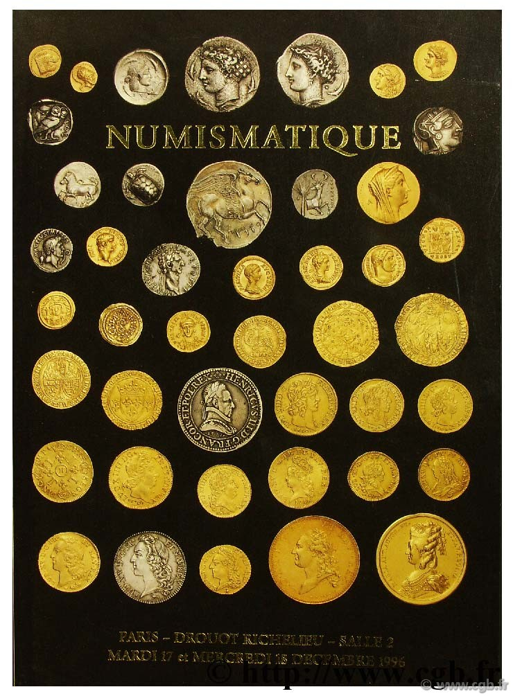 Numismatique, monnaies de Collections en or, argent ou bronze VINCHON J.