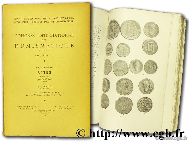 Congrès international de numismatique, Paris, 1953 BABELON J., LAFAURIE J.