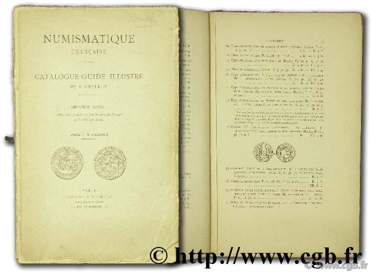 Numismatique française, catalogue-guide illustré de l amateur  SERRURE R.