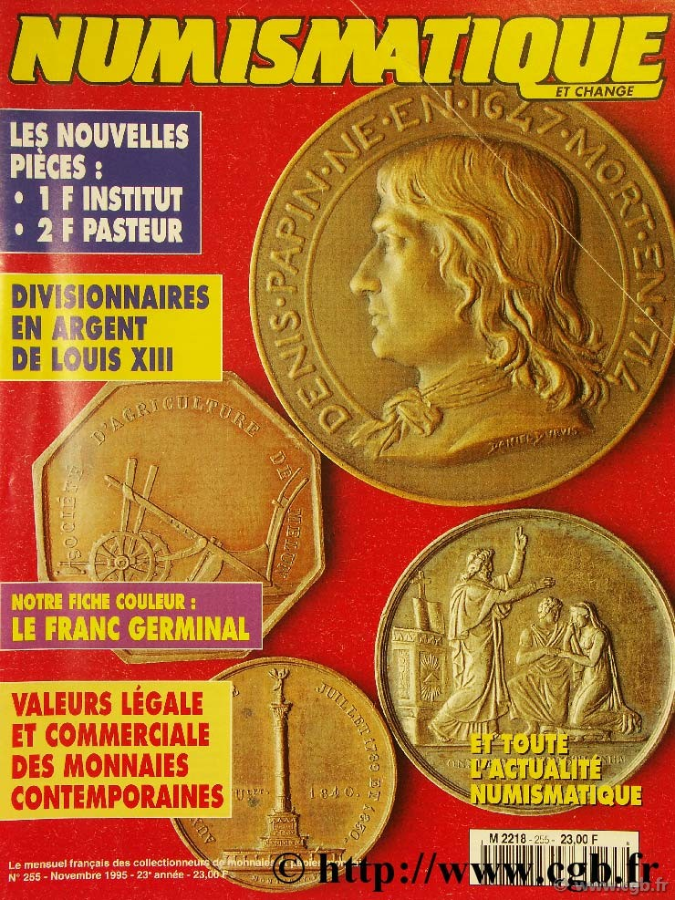 Numismatique et change n°255, novembre 1995 NUMISMATIQUE ET CHANGE