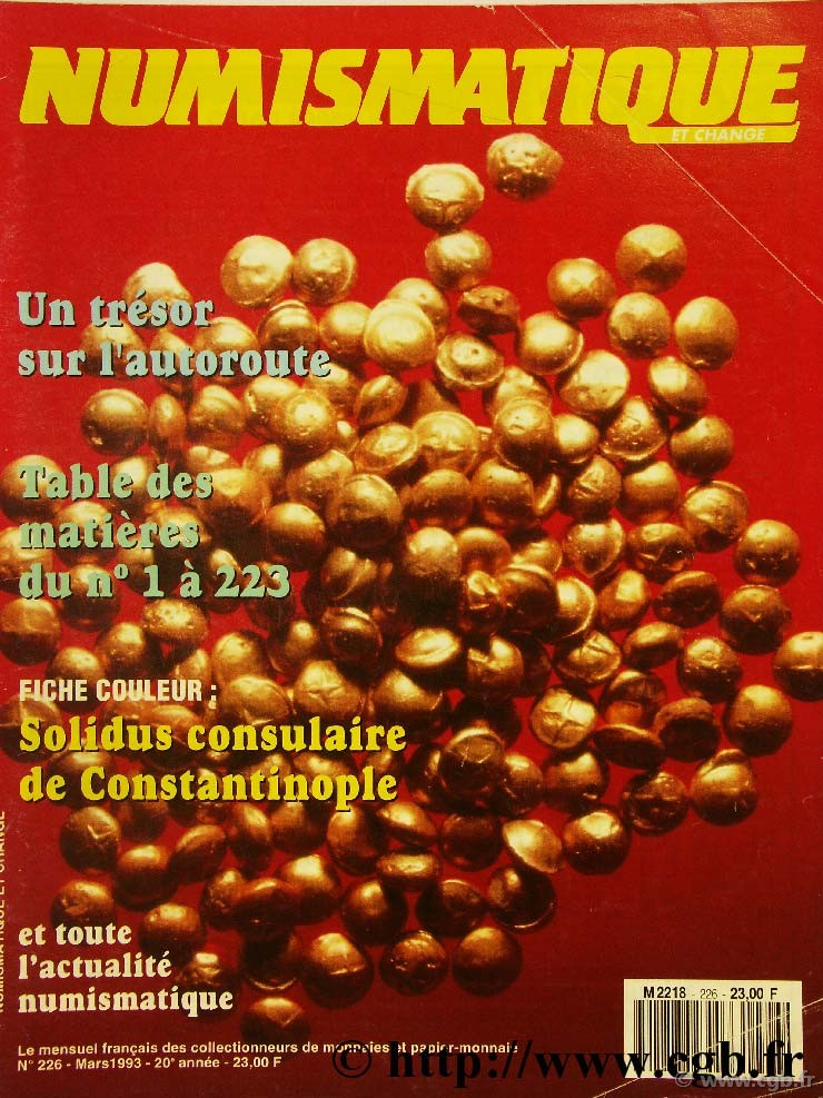 Numismatique et change n°226, mars 1993 NUMISMATIQUE ET CHANGE