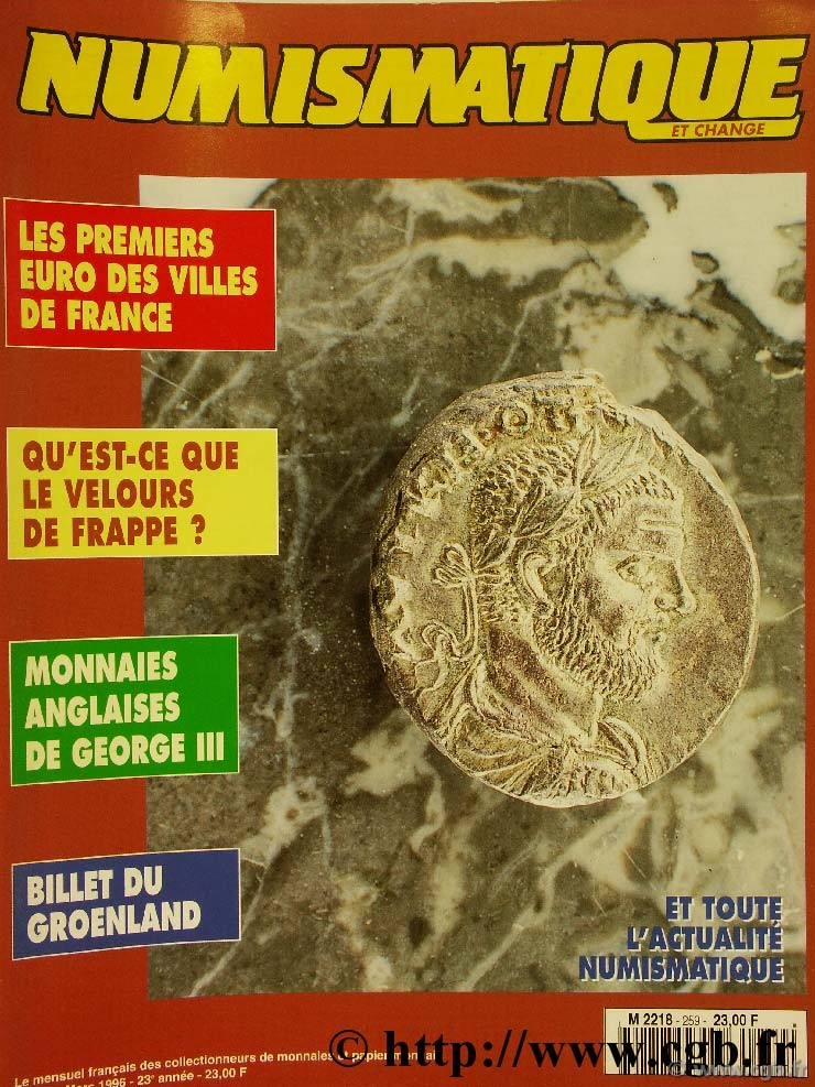 Numismatique et change n°259, mars 1996 NUMISMATIQUE ET CHANGE