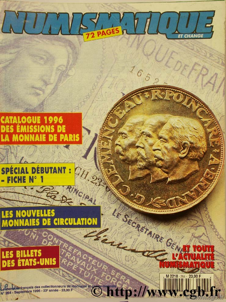 Numismatique et change n°264, septembre 1996 NUMISMATIQUE ET CHANGE