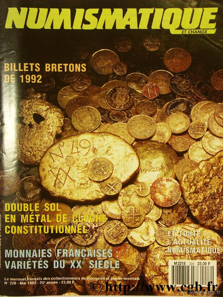 Numismatique et change n°228, mai 1993 NUMISMATIQUE ET CHANGE