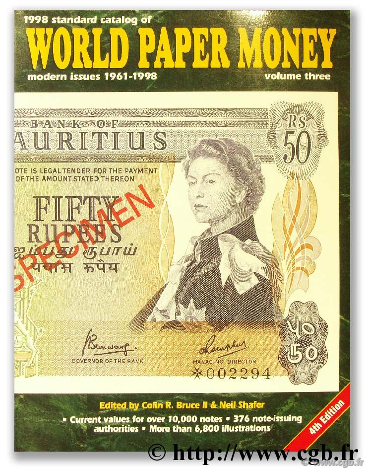World Paper Money, modern issues 1961 - 1997 CUHAJ G.-S.