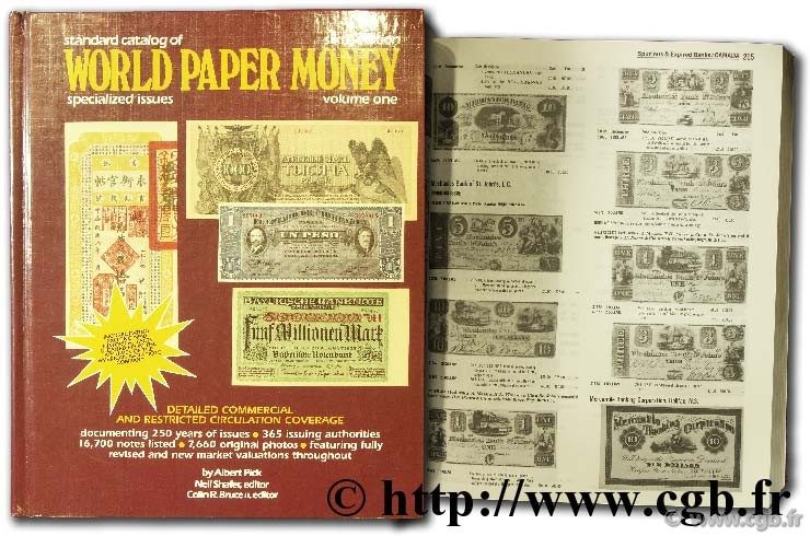 World Paper Money, general issues CUHAJ G.-S.