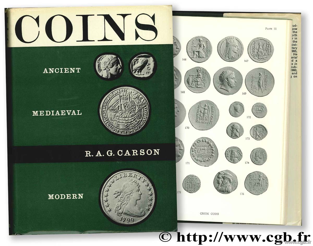Coins, ancient, medieval and modern CARSON R.-A.-G.