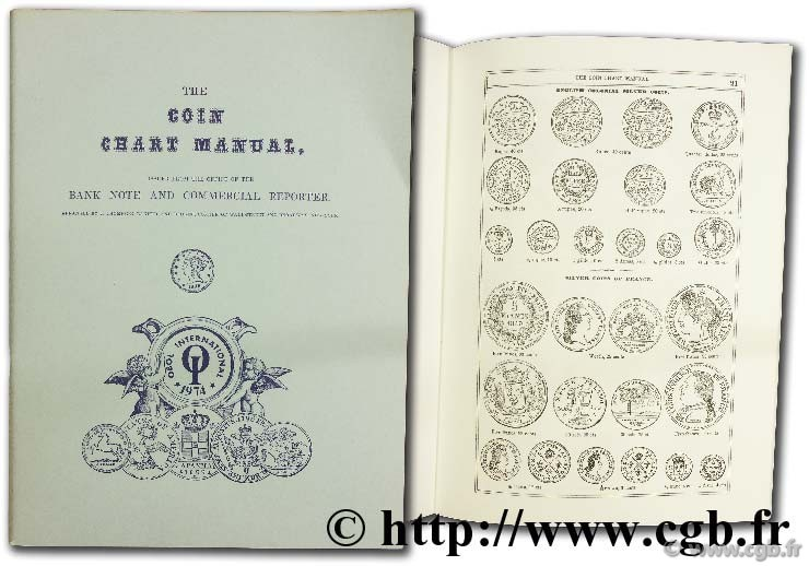 The coin chart manual issued from the office of the bank note and commercial reporter