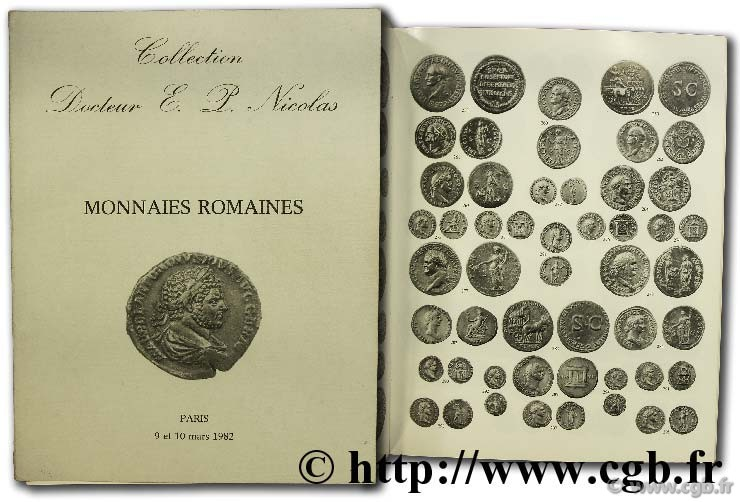 Collection E. P. Nicolas, Monnaies romaines, argent et bronze KAMPMANN M.