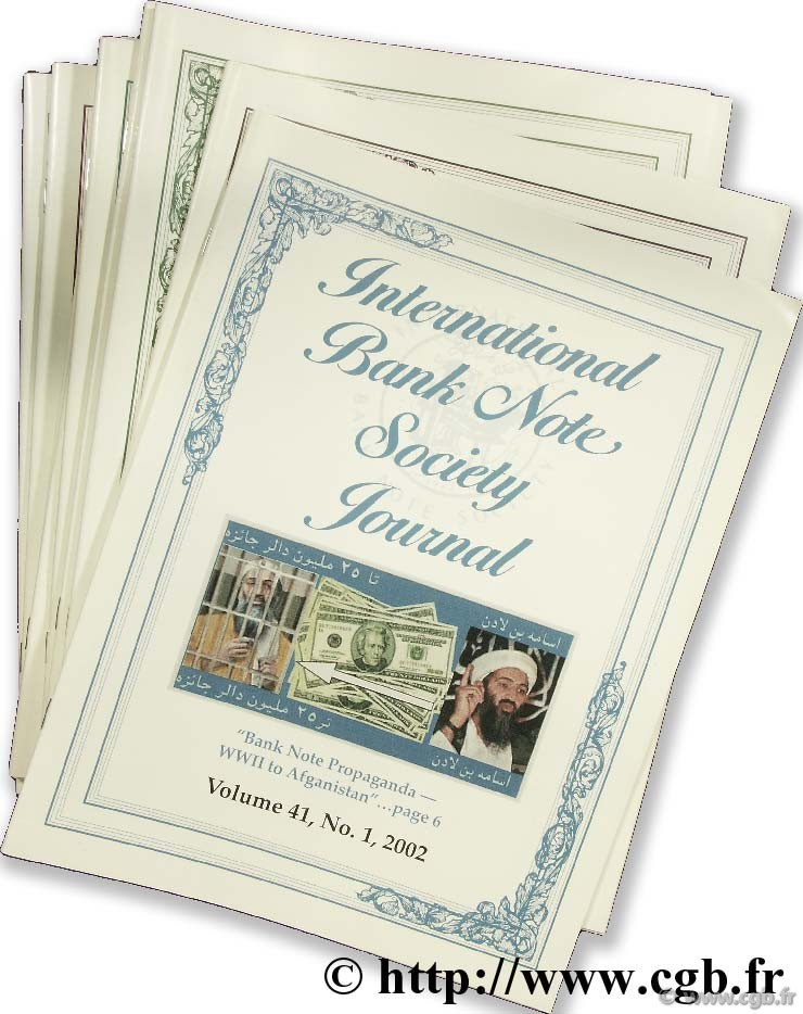International bank note society journal 2002, 2003, 2004 (10 revues)