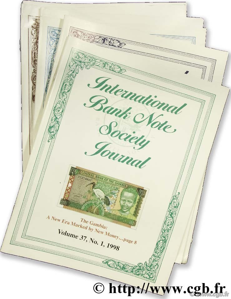 International bank note society journal 1998, 1999, 2000 (11 revues)