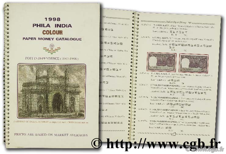 1998 Phili India colour Paper Money Catalogue JAIN M.